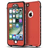 ImpactStrong iPhone 6 Waterproof Case [Fingerprint ID Compatible] Slim Full Body Protection for Apple iPhone 6 / 6s (4.7') - Red