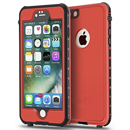 ImpactStrong iPhone 6 Waterproof Case [Fingerprint ID Compatible] Slim Full Body Protection for Apple iPhone 6 / 6s (4.7) - Red