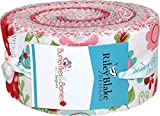 Butterflies & Berries Rolie Polie 40 2.5-inch Strips Jelly Roll Riley Blake Designs RP-6940-40