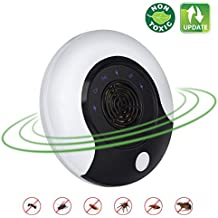 Ultrasonic Pest Repeller New Electronic Pest Repellent Plug In Bug Repellent Indoor Pest Control Get Rid Of Mosquito,Rats,Squirrels,Mice,Insects,Rodents,Roaches,Spiders,Flea,Ants,Fruit Fly 2018