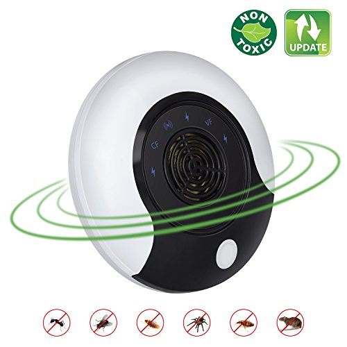 Ultrasonic Pest Repeller New Electronic Pest Repellent Plug In Bug Repellent Indoor Pest Control Get Rid Of Mosquito Rats Squirrels Mice Insects Rodents Roaches Spiders Flea Ants Fruit Fly 2018