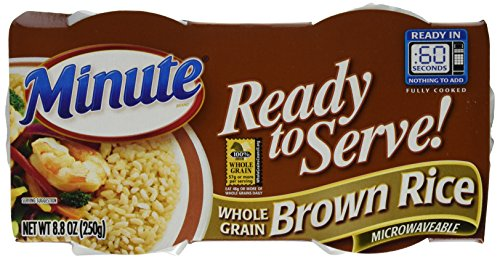 Minute Ready to Serve Natural Whole Grain Brown Rice 2 - 4.4 oz cups (Pack of 8) by Minute