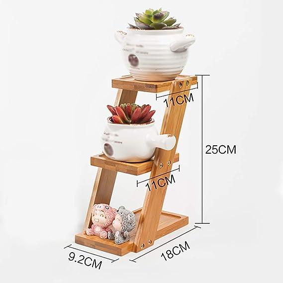 Puesto de plantas Mini soporte de flores de escritorio, soporte de ...