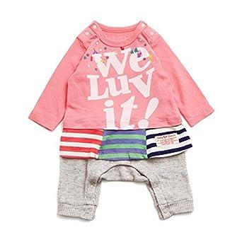 489250ee63a19 Amazon.co.jp: BREEZE(ブリーズ) GIRLSレイヤード風カバーオール ピンク 80cm ベビー服  服&ファッション小物