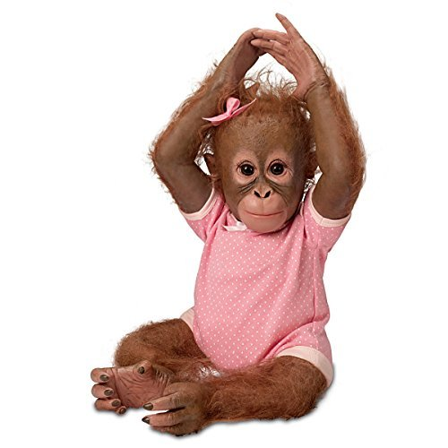 Annabelle's Hugs Ashton Drake Baby Monkey Doll By Ina Volprich 22 Inches (Monkey Baby Doll)