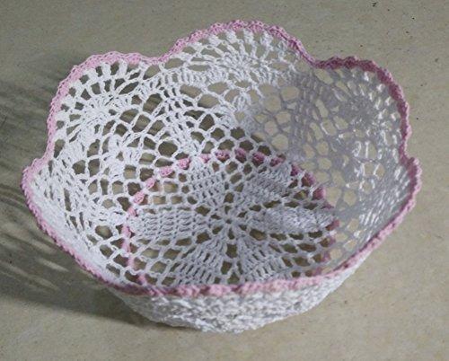 Handmade Crochet Storage Baskets Hand-Woven Decorative Bo...