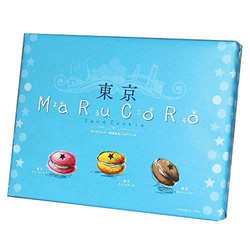 MARUKORO sand cookie Tokyo Souvenir Gift in Japan Omiyage Cake 1 package of 15 pieces]()