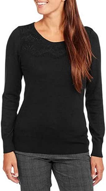 WOMENS BLACK BOAT NECK KNIT SWEATER GEORGE SIZE 0-2