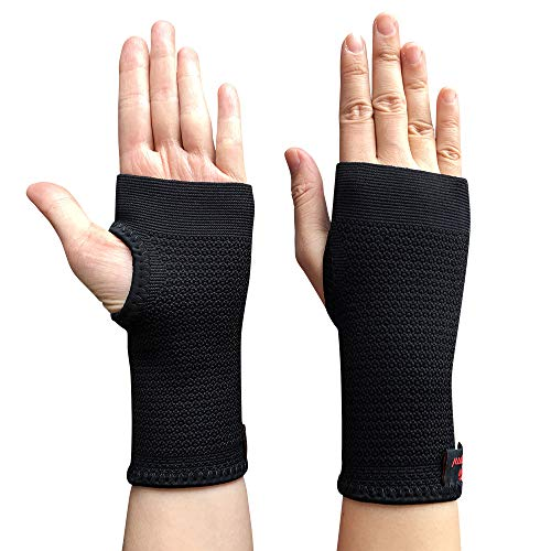 1f526f0249 Kuangmi Compression Wrist Support Sleeve Palm Hand Brace Carpal Tunnel  (Medium (Pack of 2