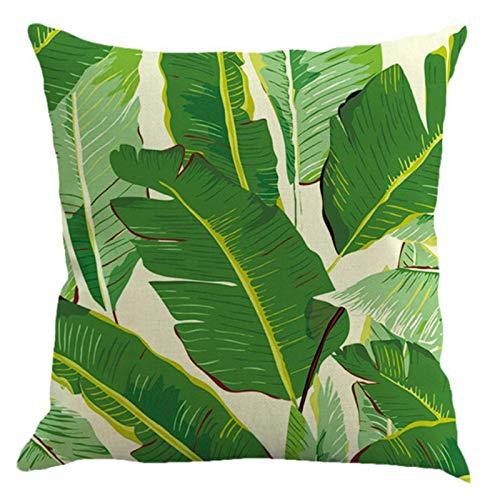 Littay Pillowcase 18inch x 18inch,Green Pillowcase Home Decoration Car Sofa Square Cushion Cover