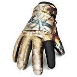 Golovejoy Full Finger Camouflage Tactical Shooting Glove Waterproof Hunting Skiing