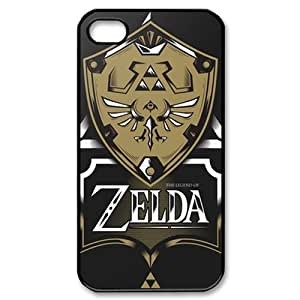 iPhone 4S case - [The Legend of Zelda Series] case for Apple iPhone 4 4S,phone case for iphone4s, rubber TPU cover case protector for iPhone4 4S (Black/white)