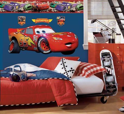 Wallhogs Disney Cars Lightning McQueen Room Makeover Kit #1