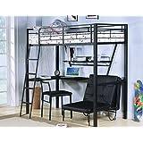 Acme Furniture ACME Senon Black Chair with Adjustable Back