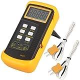 Signstek 6802 II Dual Channel Digital Thermometer with 2 K-Type Thermocouple Sensor Probe for BGA Rework HVAC 1300°C 2372°F