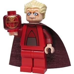 LEGO Star Wars - Figura de Canciller Supremo con capa larga y holograma de la Estrella de la Muerte