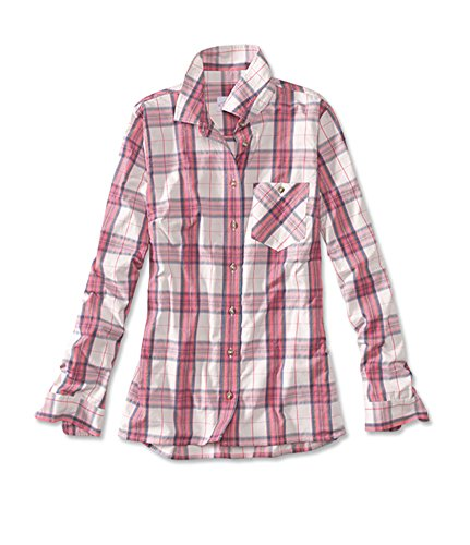 Shirt Dry Tech Button Down (Orvis Women's Everyday Tech Woven Shirt, Coral, Large)