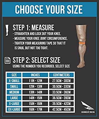 2nd Era Knee Dominate 1 - Build Your Body with Quality Neoprene Compression Knee Sleeves Brace Wraps - For Professional Elite Athletes: Powerlifting, Bodybuilding, and Weight Lifting - Sold as Pair
