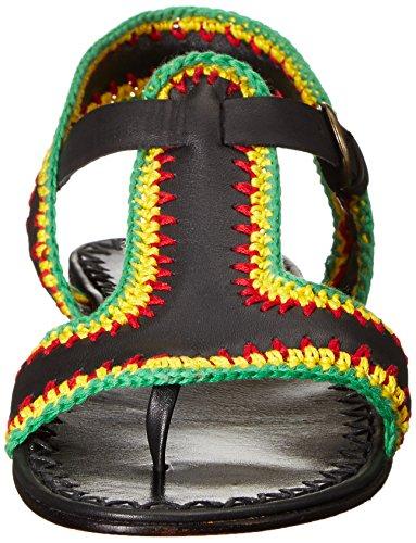 Crochet Women's Rachel Black Flat Bays Sandal Reggae Comey qaqxU1wnt