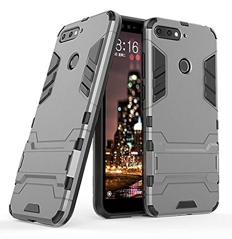 grande vendita 59f52 db5db Honor 7A / Huawei Y6 2018 Custodia Cover Case, FoneExpert® Armatura  dell'impatto Robusta Slim Custodia Kickstand Shockproof Protective Case  Cover per ...