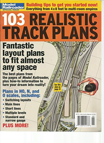 MODEL RAILROADER MAGAZINE SPECIAL ISSUE WINTER 2014 103 REALISTIC TRACK PLANS ()