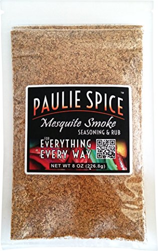 (Paulie Spice : Sweet Mesquite Smoke BBQ Seasoning and Rub For: Steak, Ribs, Meat, Pork, Chicken, Wings, Salmon, Beef, Prime, Fish, Seafood, Grill, Barbecue, Smoked, Dry Rubs, Seasonings, Spices, 8 oz)