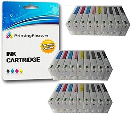 27 Druckerpatronen Für Epson Stylus Photo R2400 Pro R2400 Kompatibel Zu T0591 T0592 T0593 T0594 T0595 T0596 T0597 T0598 T0599 Bürobedarf Schreibwaren