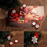 Souarts Christmas Snow Flower Wood Clothespins