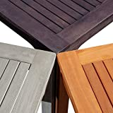 DTY Outdoor Living Leadville Square Dining Set, 5-Piece Eucalyptus Patio Furniture Set with Table and 4 Stacking Chairs