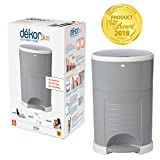 Dekor Plus Hands-Free Diaper Pail | Gray | Easiest to Use | Just Step - Drop - Done | Doesn't Absorb Odors | 20 Second Bag Change | Most Economical Refill System |Great for Cloth Diapers
