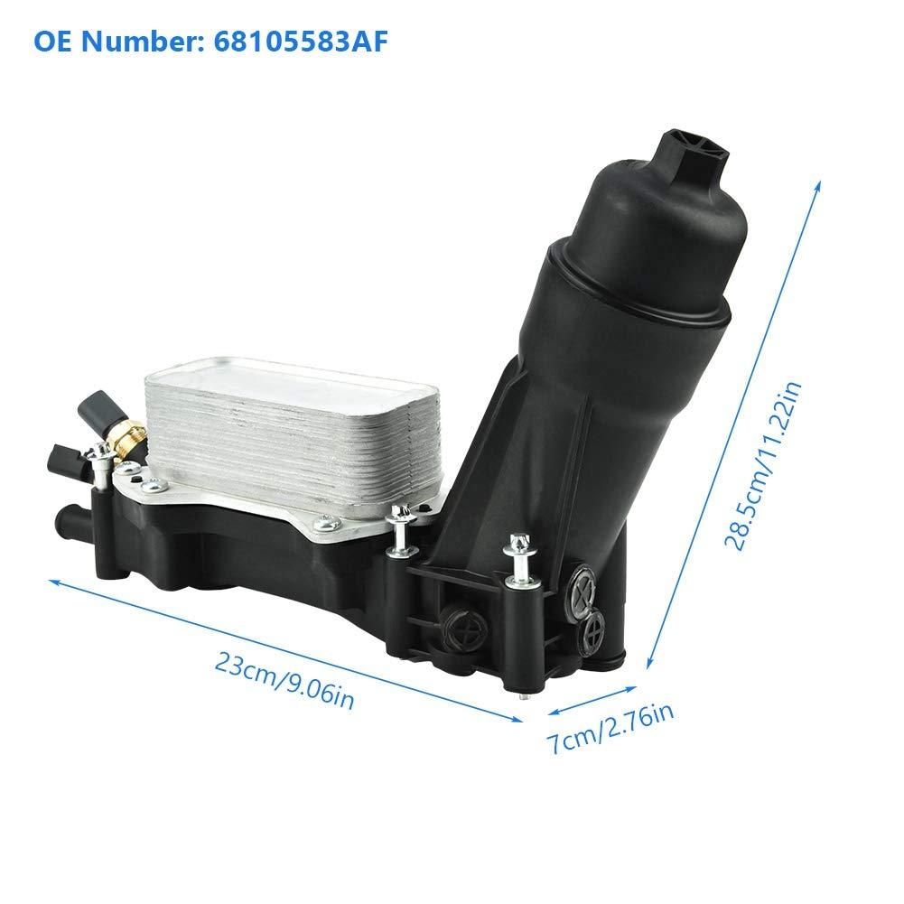 Amazon.com: 68105583AF - Enfriador de aceite para motor de ...