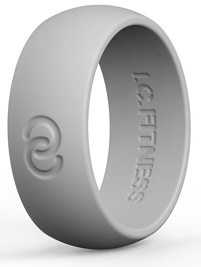Amazon Com Premium Mens Silicone Wedding Ring Band Wedding