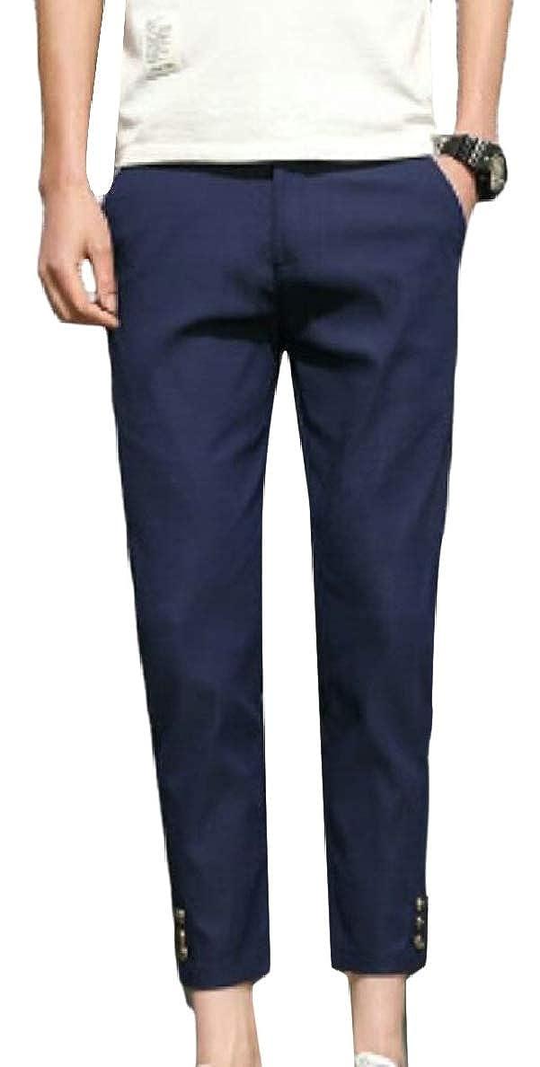 pujingge Mens Fashionable Slim Stretchy Comfy Capri Pants