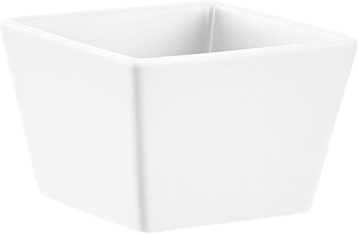 Macetero colgante blanco//negro cuadrado 2 unidades Basics