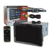 Power Acoustik Double DIN 2DIN 10.3'' Touchscreen DVD CD Receiver Detachable Faceplate Bluetooth & Remote + DCO Waterproof Backup Camera with Nightvision (Optional camera)