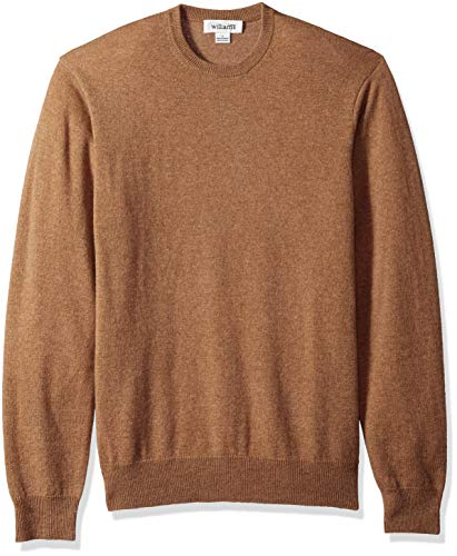 Williams Cashmere Men's 100% Cashmere Crew Neck Pullover Sweater, Camel - Cashmere 100% Sweater Crew
