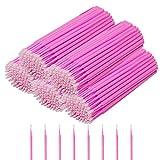 GoWorth 500Pcs Durable Micro Disposable Eyelash Extension Individual Applicators Mascara Brush for Make up and Clean and Compatible and Eyelash Dedicated (Color: 500 pink)