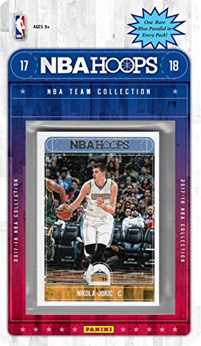 Denver Nuggets 2017 2018 Hoops Basketball Factory Sealed 11 Card Team Set with Paul Millsap, Juan Hernangomez plus Tyler Lydon Rookie (Nuggets Denver Set)