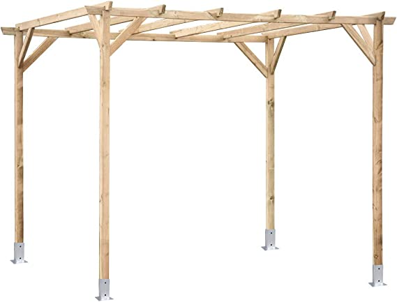 Kit Pergola 3.00x2.50 Postes 7 X 7: Amazon.es: Jardín