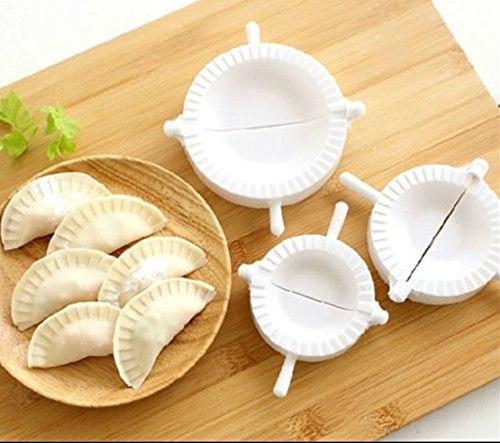 3pcs Press Ravioli Dough Pastry Pie Dumpling Maker Gyoza Empanada Mold Mould Tool MTSZZF