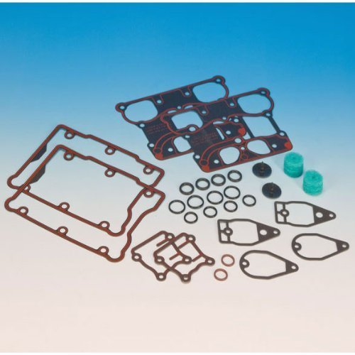 James Genuine 17033-99 Rocker Box Gasket Kit for Harley-Davidson 1999-2011 Twin Cam Models (17033-99)