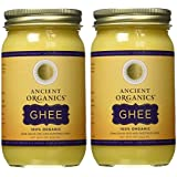 100% Organic Ghee from Grass-fed Cows, 16oz (Pack of 2)