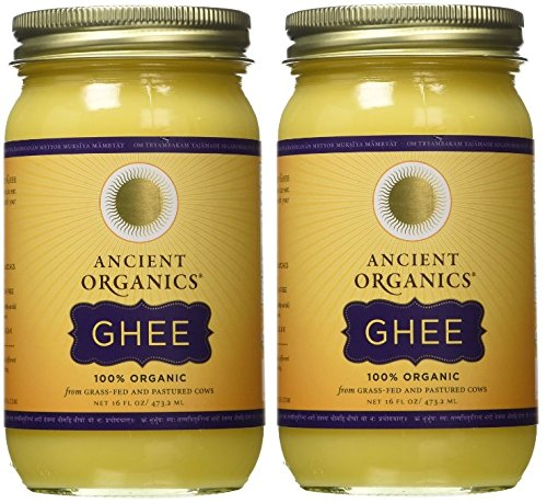: 100% Organic Ghee from Grass-fed Cows, 16oz (Pack of 2)