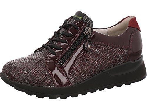 cuero 401053 cordones Zapatos para Waldläufer morado repujado de 364023 de mujer SYU1f