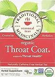 Traditional Medicinals Herbal Teas, Organic Throat Coat, 16 Tea Bags (Pack of 3)