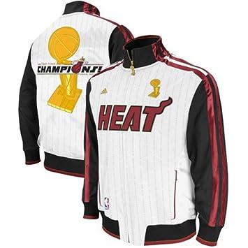 adidas Miami Heat NBA Trofeo Blanco de Hombre Anillo Banner celebración - Chaqueta para Hombre, Blanco: Amazon.es: Deportes y aire libre