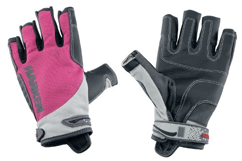 Harken Sport Spectrum 3/4 Finger Gloves, Pink, Small, Outdoor Stuffs