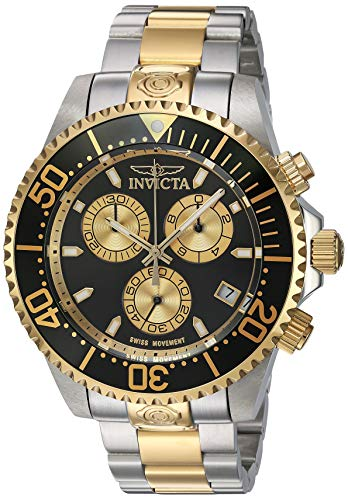 (Invicta Men's Pro Diver Quartz Diving Watch with Stainless-Steel Strap, Two Tone, 21.5 (Model: 26850))