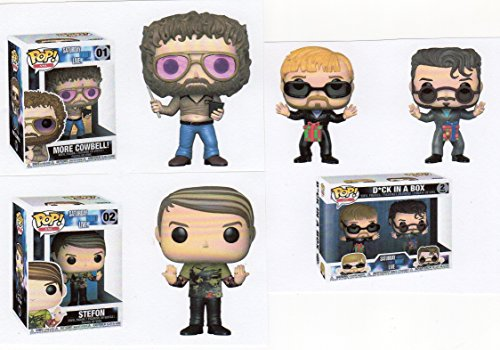 """Funko SATURDAY NIGHT LIVE 3.75"""" POP SET – DICK IN A BOX- STEFON & MORE COWBELL -"""