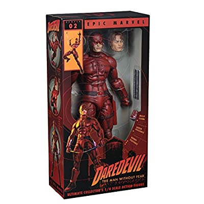 NECA - Marvel - 1/4 Scale Action Figure - Daredevil: Toys & Games